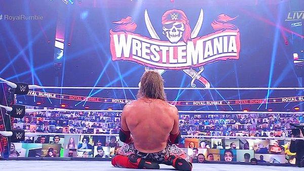 Edge WrestleMania sign
