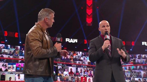 Shane McMahon Adam Pearce WWE Raw