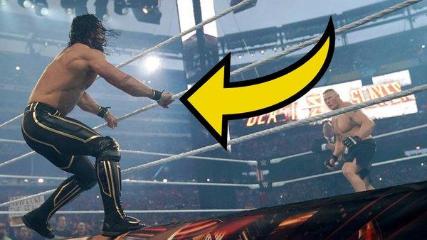 Seth Rollins Brock Lesnar