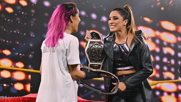 Backstage News On WWE NXT Women's Tag Team Titles 123
