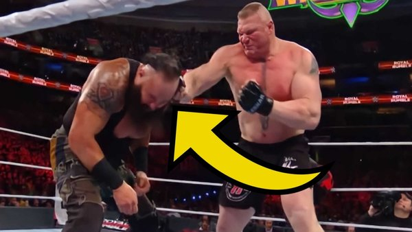 Brock Lesnar Braun Strowman Punch