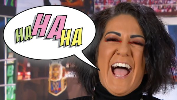 Bayley Laughing