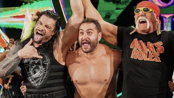 Roman Reigns Rusev Hulk Hogan