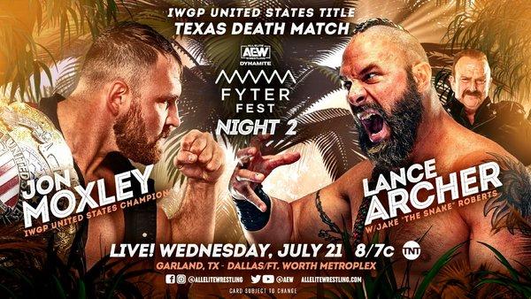 AEW match graphic