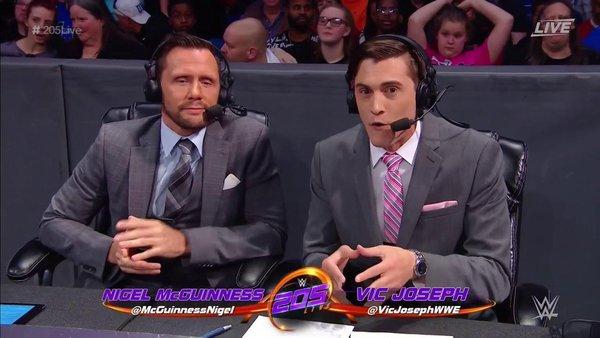 Nigel McGuinness Vic Joseph WWE 205 Live