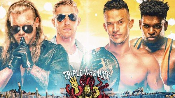 Chris Jericho Orange Cassidy Ricky Starks Powerhouse Hobbs Jericho Cruise Triple Whammy