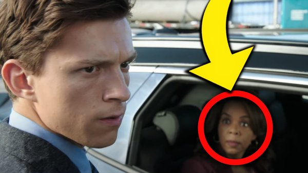 Spider-Man No Way Home Peter Parker woman in car