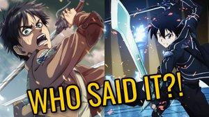 Eren Jaeger vs Kirito Attack On Titan/Sword Art Online